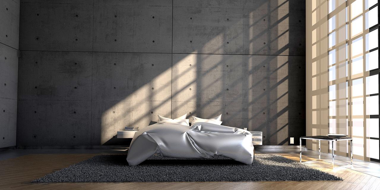 Modne materiały. Beton architektoniczny na ścianę – modny salon